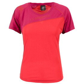 La Sportiva Catch Running T-shirt Women red/purple